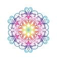 Spectral Flower Mandala Over White vector image vector image