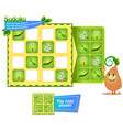 sudoku iq game insects vector image vector image
