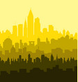 Sunny City Skyline vector image vector image