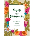 Tropical Summer Exotic Menu Fruits Card vector image vector image