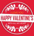 valentine day circle happy valentine imag vector image