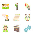 videoconference icons set cartoon style vector image vector image