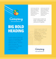 volley ball business company poster template with vector image vector image