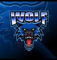 wolf head mascot logo design vector image vector image