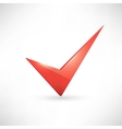 Isolated red check mark vector image
