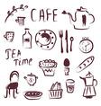 Cafe design elements set vector image