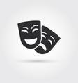 happy and sad masks vector image