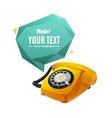 Rotary Telephone with Bubble Speech vector image