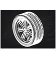 3d model of wheels on a black vector image vector image