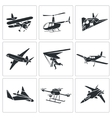 Aaircrafts Icons Set vector image vector image