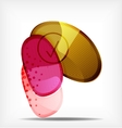 Abstract colorful glossy blank round shapes vector image