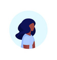 african american woman profile avatar isolated vector image vector image