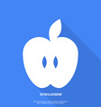 Apple icon flat design vector image vector image