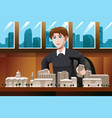 architect working in office vector image vector image