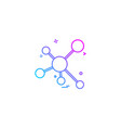 atomic science icon vector image vector image