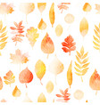 autumn leaves seamless patter vector image