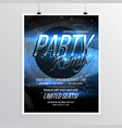 beautiful party remix flyer template with event vector image