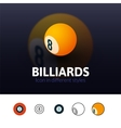 Billiards icon in different style vector image vector image