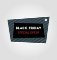 black friday sale banner on abstract square black vector image