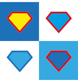 Blank super hero badge set vector image