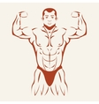 Bodybuilding and powerlifting Bodybuilder showing vector image vector image
