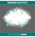 Bokeh lights over transparent background Bokeh vector image vector image