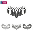 business meeting people line icon on white vector image vector image
