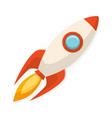 cartoon flat design rocket ship symbol of start vector image