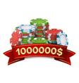 casino winner background gambling poker vector image