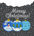 Christmas greating card vector image vector image