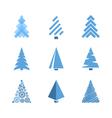 christmas tree icons vector image vector image