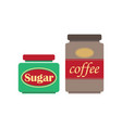 coffee and sugar vector image vector image