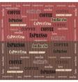Coffee wallpaper sweetness vector image vector image