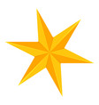 colorful cartoon 6 point golden star vector image vector image