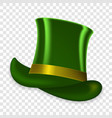 colorful green hat on spring holiday st vector image