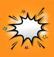 comic speech bubble on orange background vector image vector image