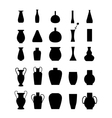 Different slyle of vases set vector image vector image