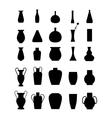 different slyle vases set vector image