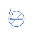 do not smoke line icon concept do not smoke flat vector image