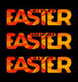 easter typography card vector image