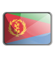 eritrea flag on white background vector image vector image