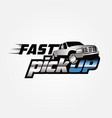fast pickup logo sign symbol icon vector image