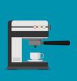 flat coffee machine icon vector image vector image