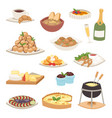 french cuisine traditional food delicious meal vector image vector image