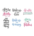 Friendship Family Romantic love lettering set vector image vector image