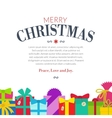 Gift set - christmas presents anniversary vector image vector image