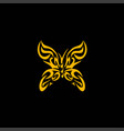 Gold butterfly vector image