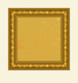 golden square frame vector image