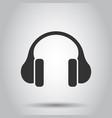 headphone headset icon in flat style headphones vector image vector image