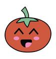 kawaii cute happy tomato vegetable vector image vector image